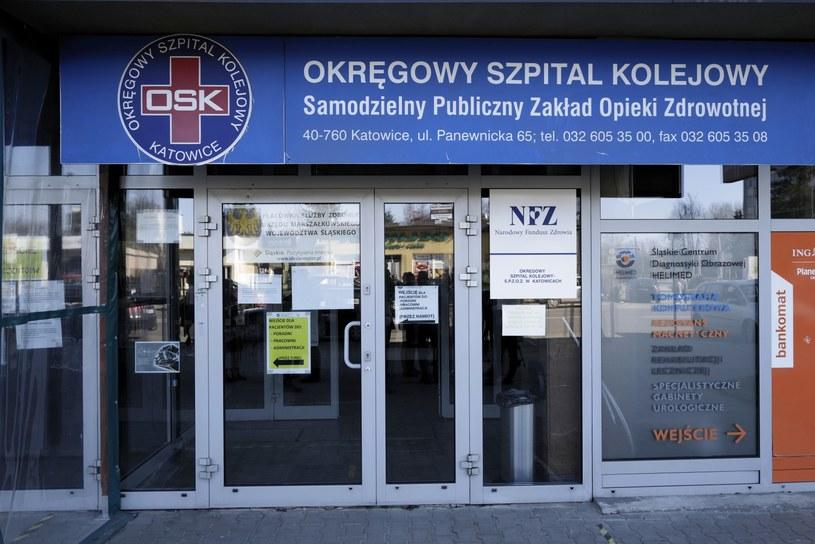 Budynek Okręgowego Szpitala Kolejowego w Katowicach /Andrzej Grygiel /PAP