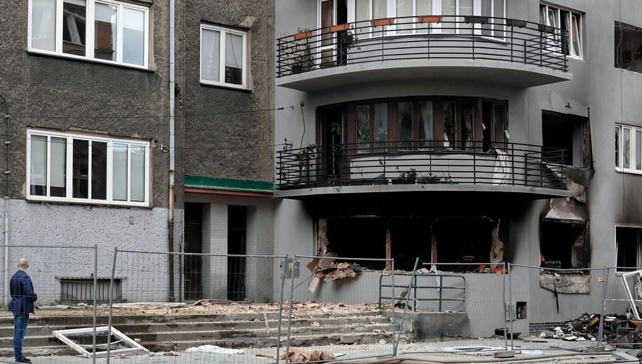 Budynek, w którym doszło do eksplozji gazu /Hanna Bardo /PAP