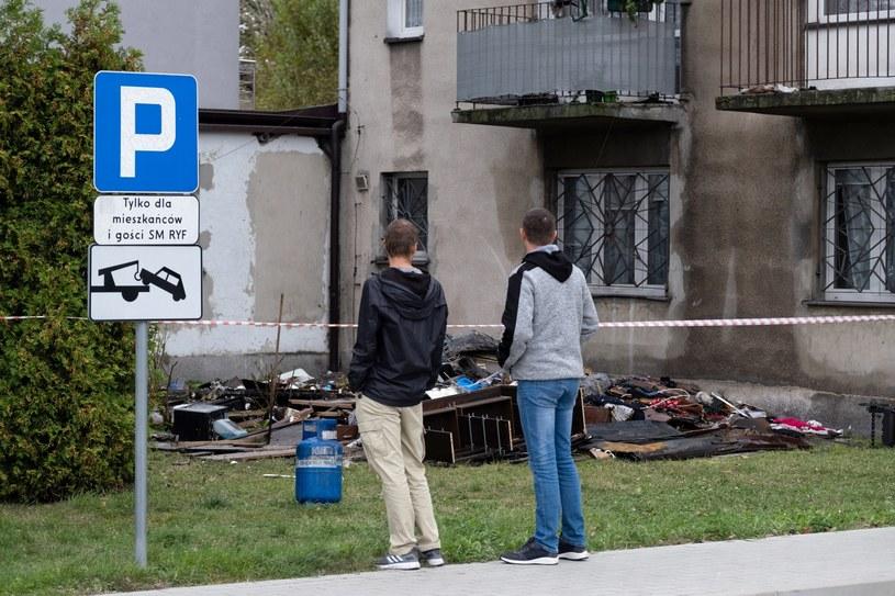 Budynek, w którym doszło do wybuchu butli z gazem w Rybniku /Hanna Bardo /PAP