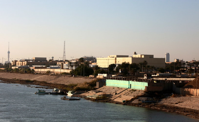 Budynki ambasady USA w Zielonej Strefie w centrum Bagdadu /PAP/EPA/AHMED JALIL  /PAP