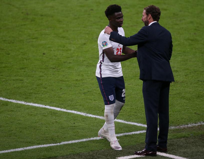 Bukayo Saka był jednym z tych, których Gareth Southgate wyznaczył do wykonania rzutu karnego w finale Euro 2020. /Newspix