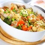 Bukiet warzyw z drobiowymi kąskami