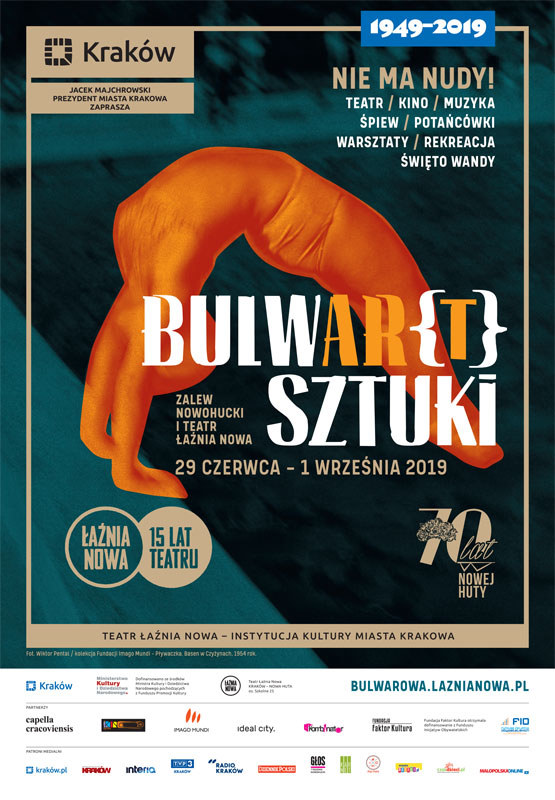 Bulwar[t] Sztuki 2019 – ponad 150 wydarzeń nad Zalewem Nowohuckim /materiały prasowe