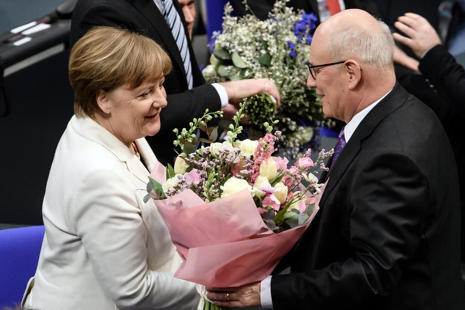 Bundestag po raz czwarty wybrał Angelę Merkel na kanclerza /Clemens Bilan /PAP/EPA