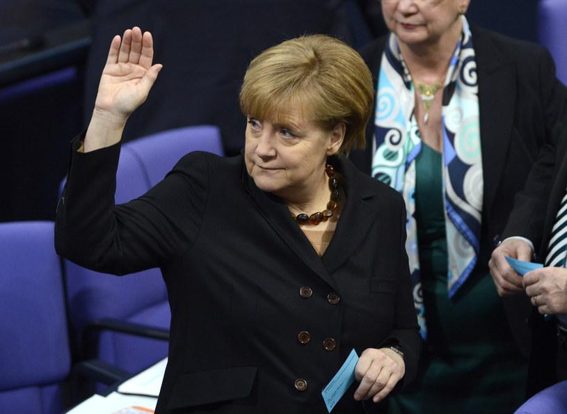 Bundestag po raz trzeci wybrał Merkel na kanclerza /AFP