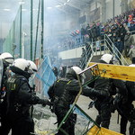 Burdy na stadionie Piasta Gliwice. 7 osób zatrzymanych
