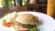 Burger z zielonej soczewicy