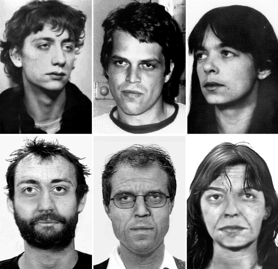 Burkhard Garweg, Ernst-Volker Wilhelm Staub i Daniela Klette kiedyś i dziś wg. symulacji niemieckich kryminalnych /BKA /PAP/EPA
