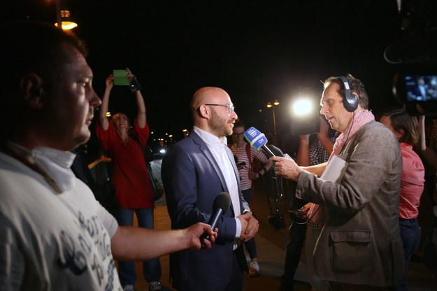 Burmistrz Frankfurtu Rene Wilke / Lech Muszyński    /PAP