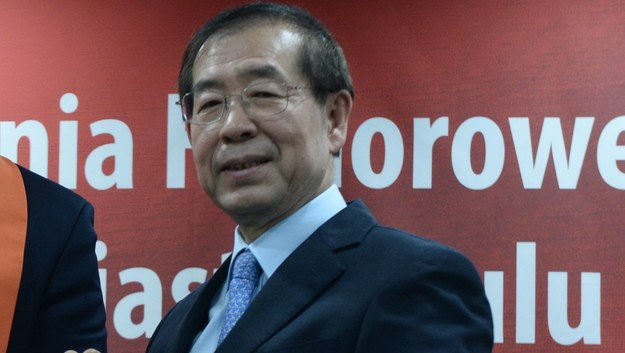 Burmistrz Seulu Park Won Sun /Jacek Turczyk /PAP