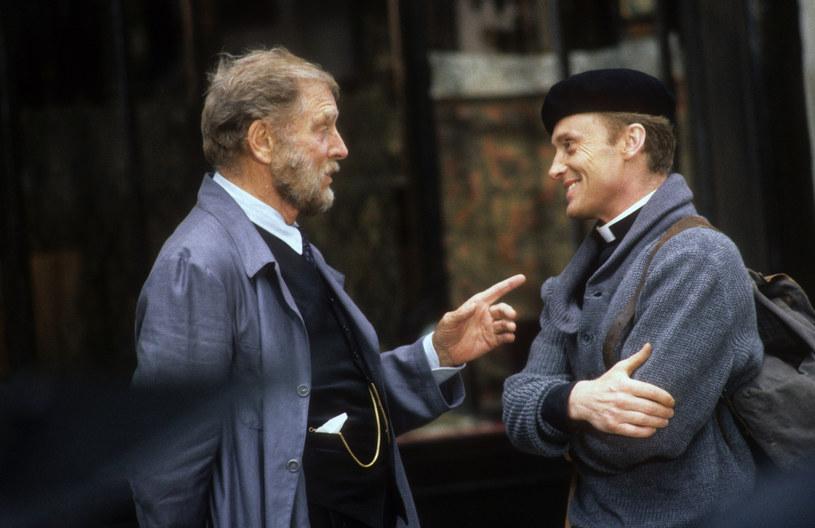 """Burt Lancaster i Daniel Olbrychski na planie """"Przed sklepem jubilera"""" /Laski Diffusion /East News"""