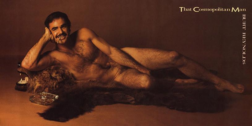 """Burt Reynolds na okładce """"Cosmopolitan"""" w 1972 roku /materiały prasowe"""