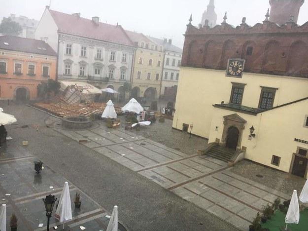 Burza w Tarnowie /Paweł Gawroński /Gorąca Linia RMF FM