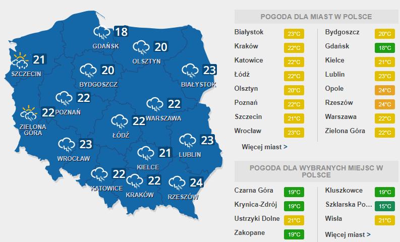 Burza w wielu częściach kraju /INTERIA.PL