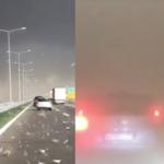 Burza zaskoczyła ich na autostradzie! Myśleli, że to koniec świata!