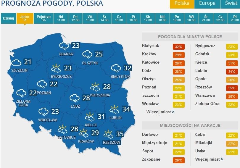 Burze będą pojawiać się prawie w całej Polsce /INTERIA.PL