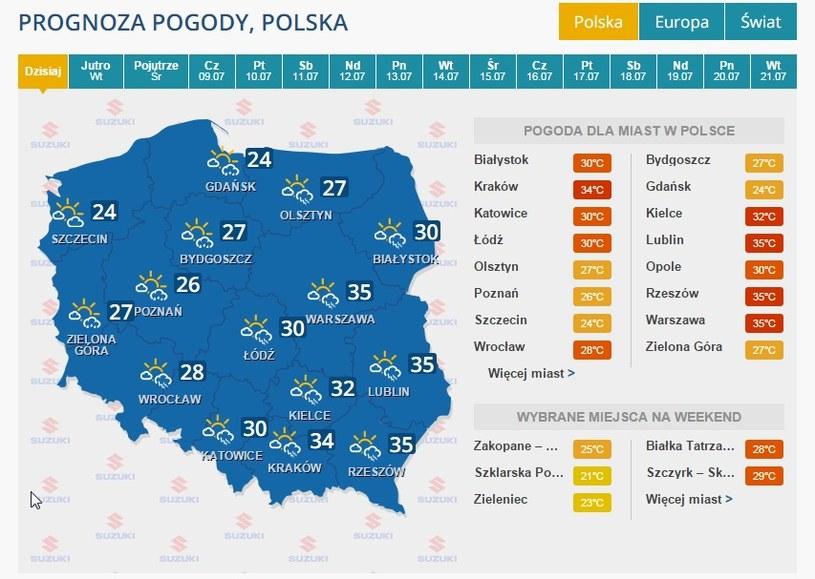 Burze nad Polską /INTERIA.PL