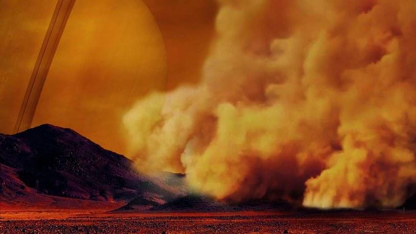Burze piaskowe na Tytanie /NASA