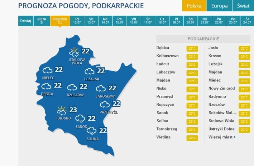 Burze pojawią się w czwartek między innymi na Podkarpaciu /INTERIA.PL