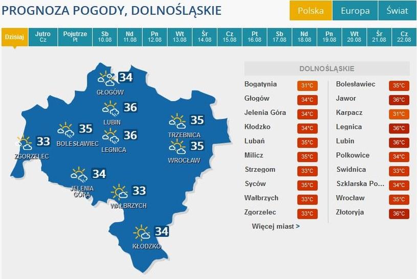 Burze spodziewane są między innymi na Dolnym Śląsku /INTERIA.PL