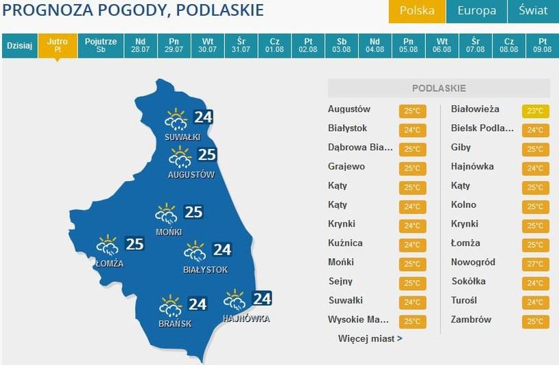 Burze spodziewane są w piątek m.in. na Podlasiu /INTERIA.PL