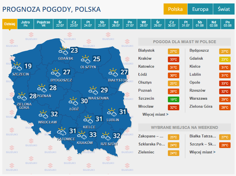 Burzowa niedziela w całej Polsce /INTERIA.PL