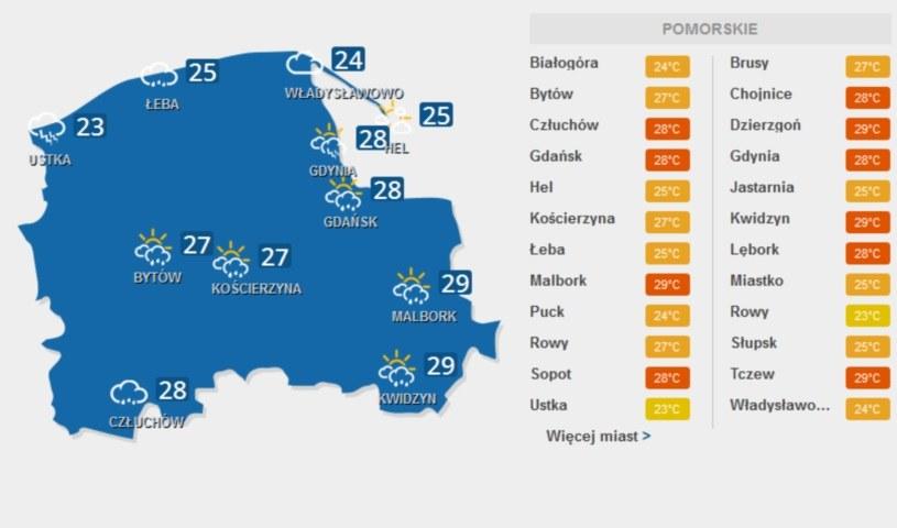 Burzowo będzie w woj. pomorskim /INTERIA.PL