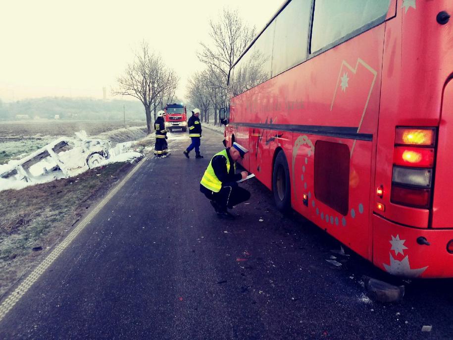 Bus doszczętnie się spalił /Policja