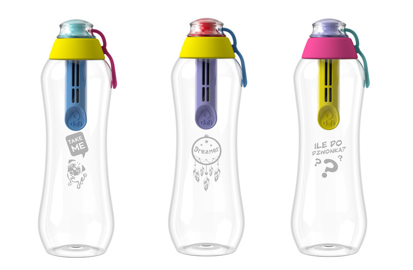 Butelka Dafi wyposażona jest w unikatowy wymienny filtr węglowy /materiały prasowe