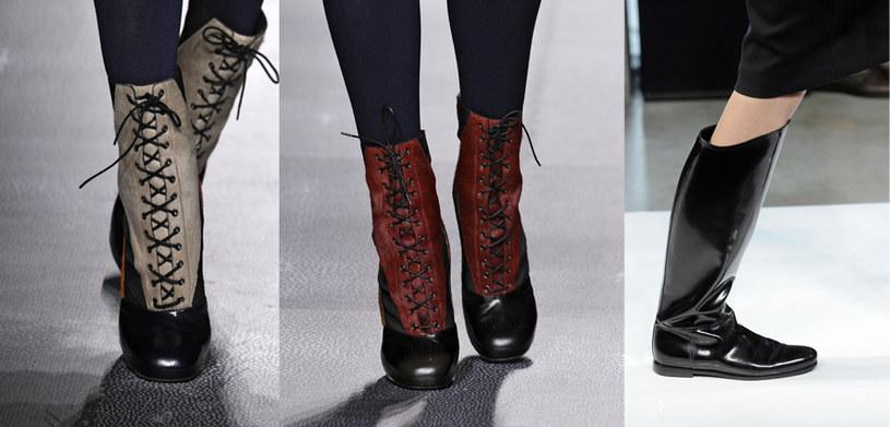 Buty muszą być wygodne i stylowe. Tu: botki od Fendi i kozaki à la kalosze od Bottega Vaneta /East News/ Zeppelin