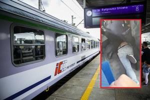 Bydgoszcz. Awantura w pociągu PKP Intercity. Policjanci unieruchomili pasażera bez maseczki