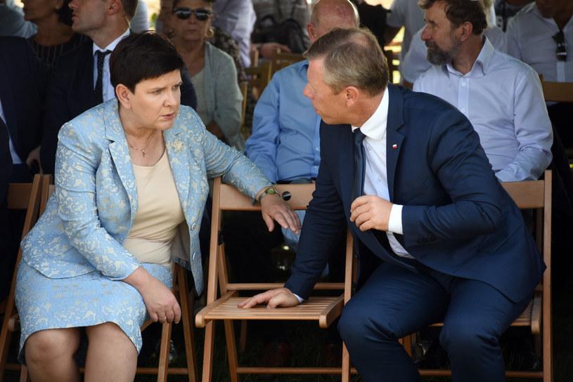 Była premier Beata Szydło i były wojewoda małopolski Piotr Ćwik /Fot. Marek Lasyk/REPORTER /East News