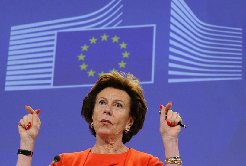 Była unijna komisarz Neelie Kroes zataiła swoją działalność w firmie Mint Holdings Limited /AFP