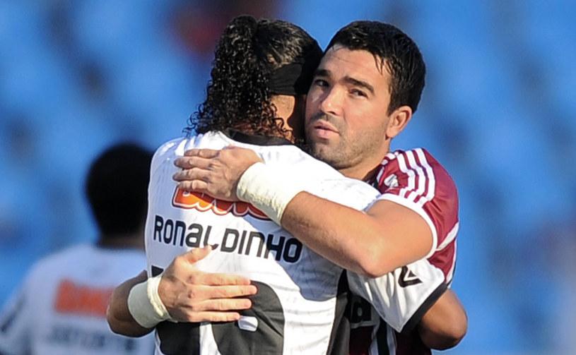 Byłe gwiazdy Barcelony: Ronaldinho i Deco /AFP