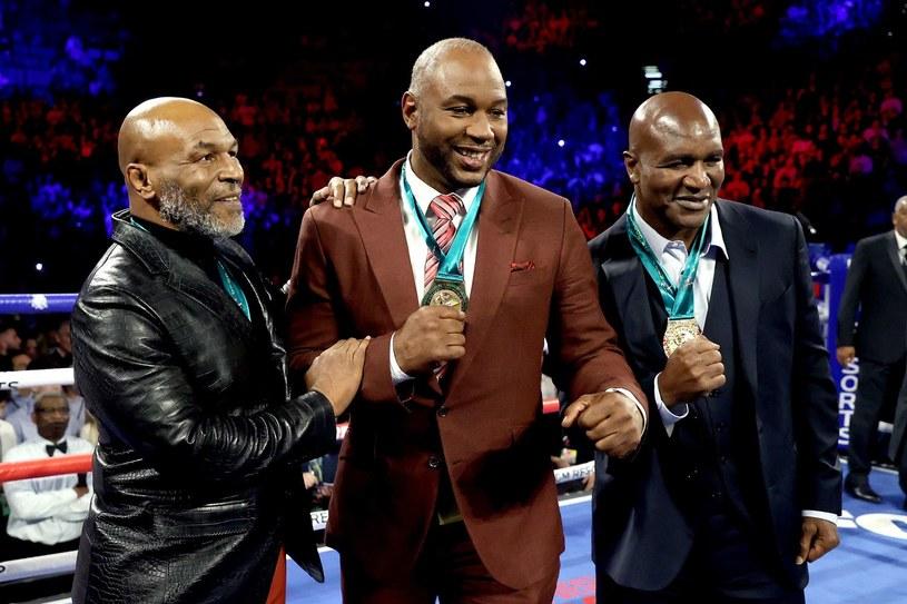 Byli mistrzowie świata Mike Tyson, Lennox Lewis i Evander Holyfield /AFP