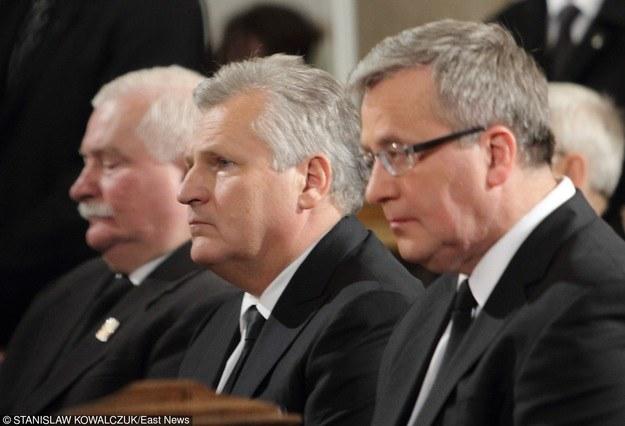 Byli prezydenci Lech Wałęsa, Aleksander Kwaśniewski i Bronisław Komorowski /East News