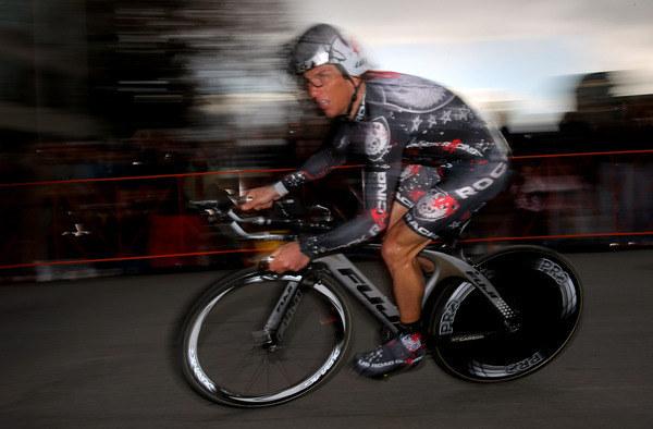 Były amerykański kolarz Tyler Hamilton /AFP