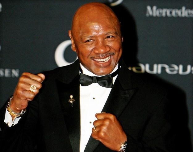 Były bokserski mistrz świata w kategorii średniej, 64-letni Amerykanin Marvin Hagler chce wrócić na plan filmowy / SONZA GABRIEL /PAP/EPA