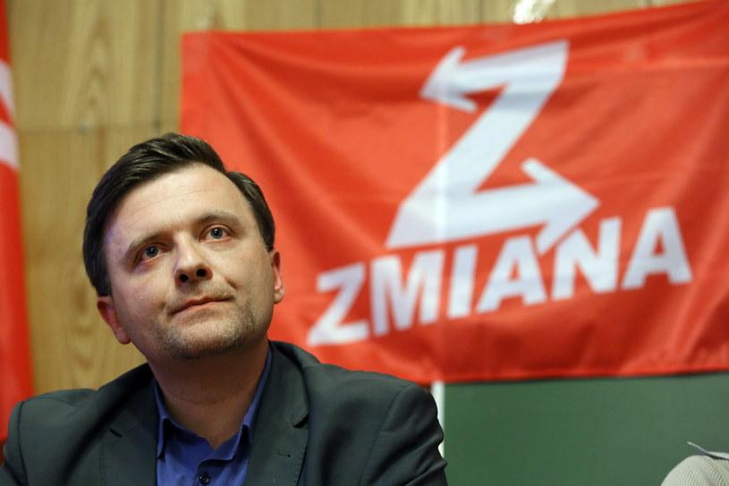 Były działacz Samoobrony Mateusz Piskorski podczas pierwszego zgromadzenia krajowego partii politycznej Zmiana /Tomasz Gzell /PAP