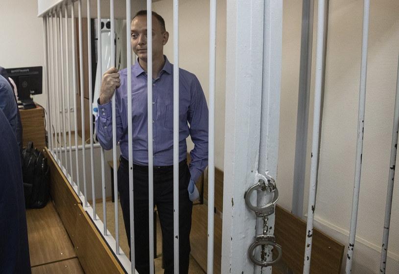 """Były dziennikarz gazety """"Kommiersant"""" Iwan Safronow został zatrzymany /Sergei Ilnitsky /PAP/EPA"""