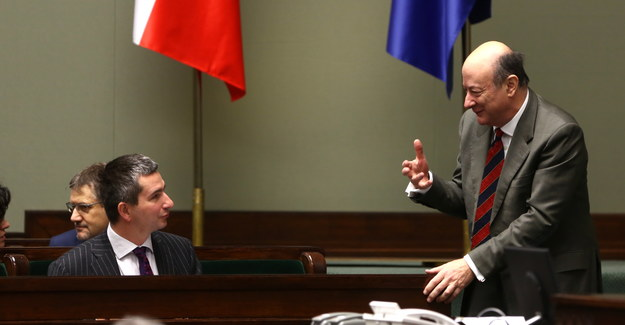 Były i obecny minister finansów: Jacek Rostowski i Mateusz Szczurek /Tomasz Gzell /PAP