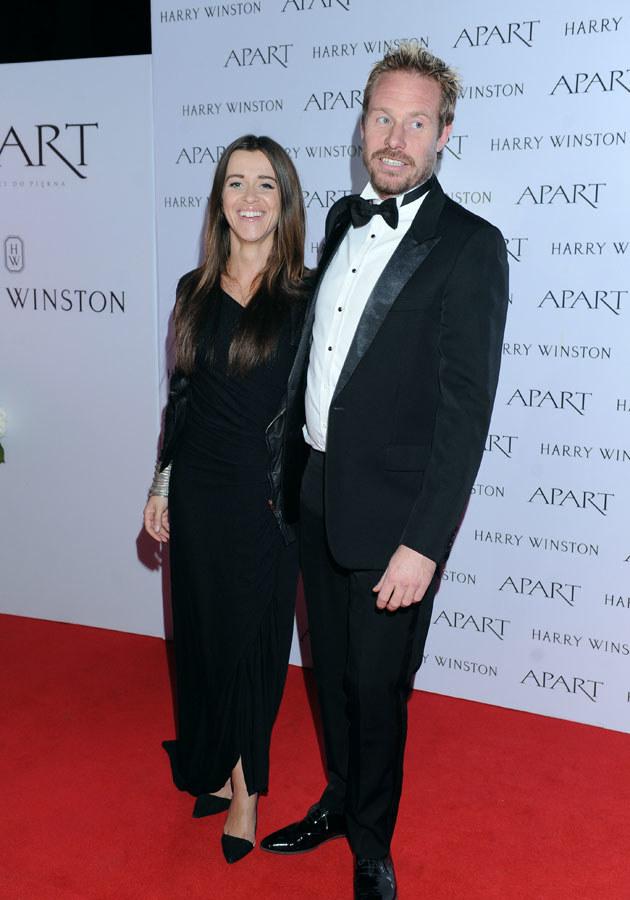 Były mąż Kayah, Rinke Rooyens, z aktualną partnerką Malwiną Wędzikowską. /MWMedia