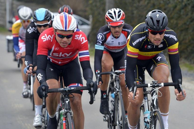 Były mistrz świata w kolarstwie Tom Boonen (z prawej) /AFP