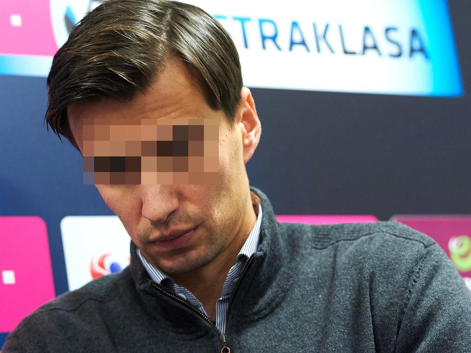 Były piłkarz Jarosław B. / Adam Warżawa    /PAP
