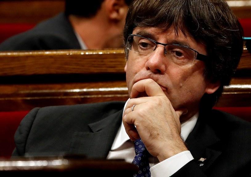 Były premier Katalonii Carles Puigdemont /QUIQUE GARCIA /PAP/EPA