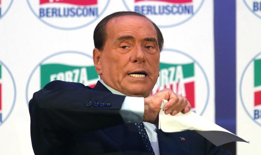 Były premier Włoch Silvio Berlusconi /MATTEO BAZZI    /PAP/EPA