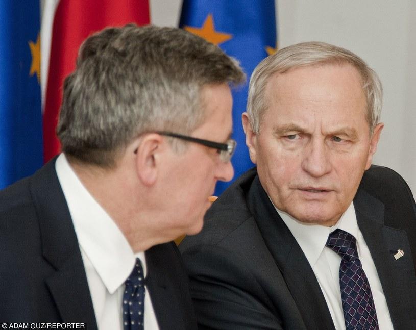 Były prezydent Bronisław Komorowski i gen. Stanisław Koziej /Adam Guz /East News