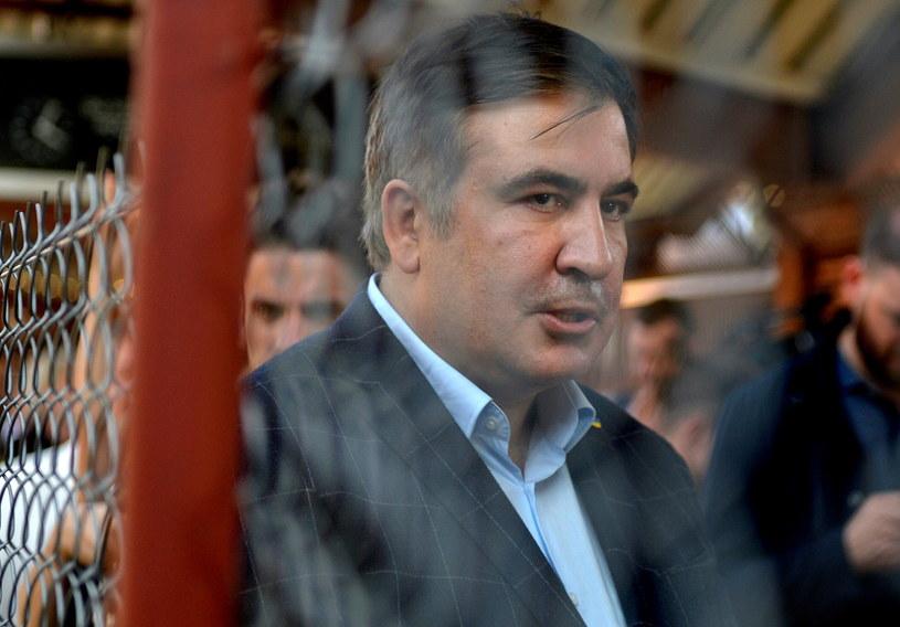 Były prezydent Gruzji i były gubernator Odessy Micheil Saakaszwili na dworcu PKP w Przemyślu /Darek Delmanowicz /PAP