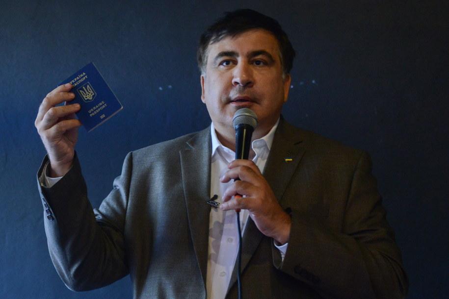 Były prezydent Gruzji Micheil Saakaszwili /Jakub Kamiński   /PAP