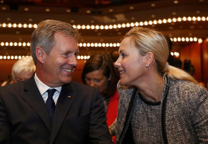 Były prezydent Niemiec Christian Wulff i jego żona Bettina /AFP